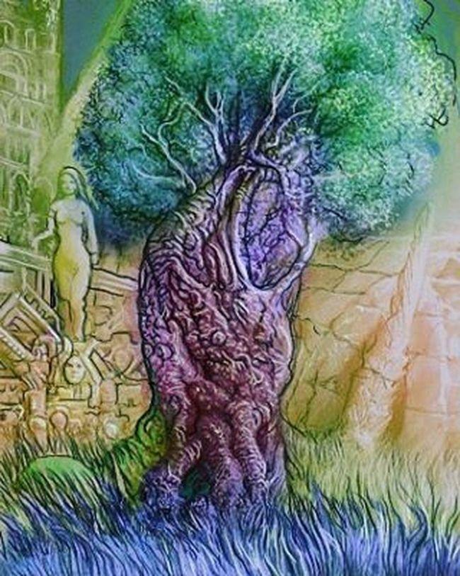 Art Creativity Digital Full Frame Multi Colored Painting The Tree The Tree Academy