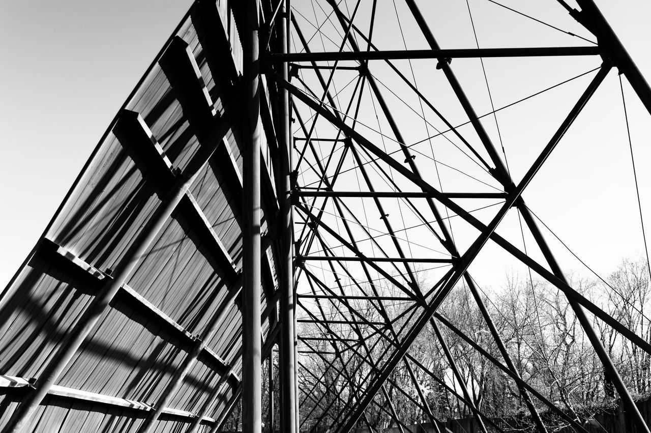 Abandoned Places Abstract Architecture B&w Black And White Built Structure Cinema Day Drive-in Theater EyeEmbestshots EyeEmNewHere Geometric Low Angle View MOVIE Movie Time No People Outdoors Photography Scaffolding Sky Steel