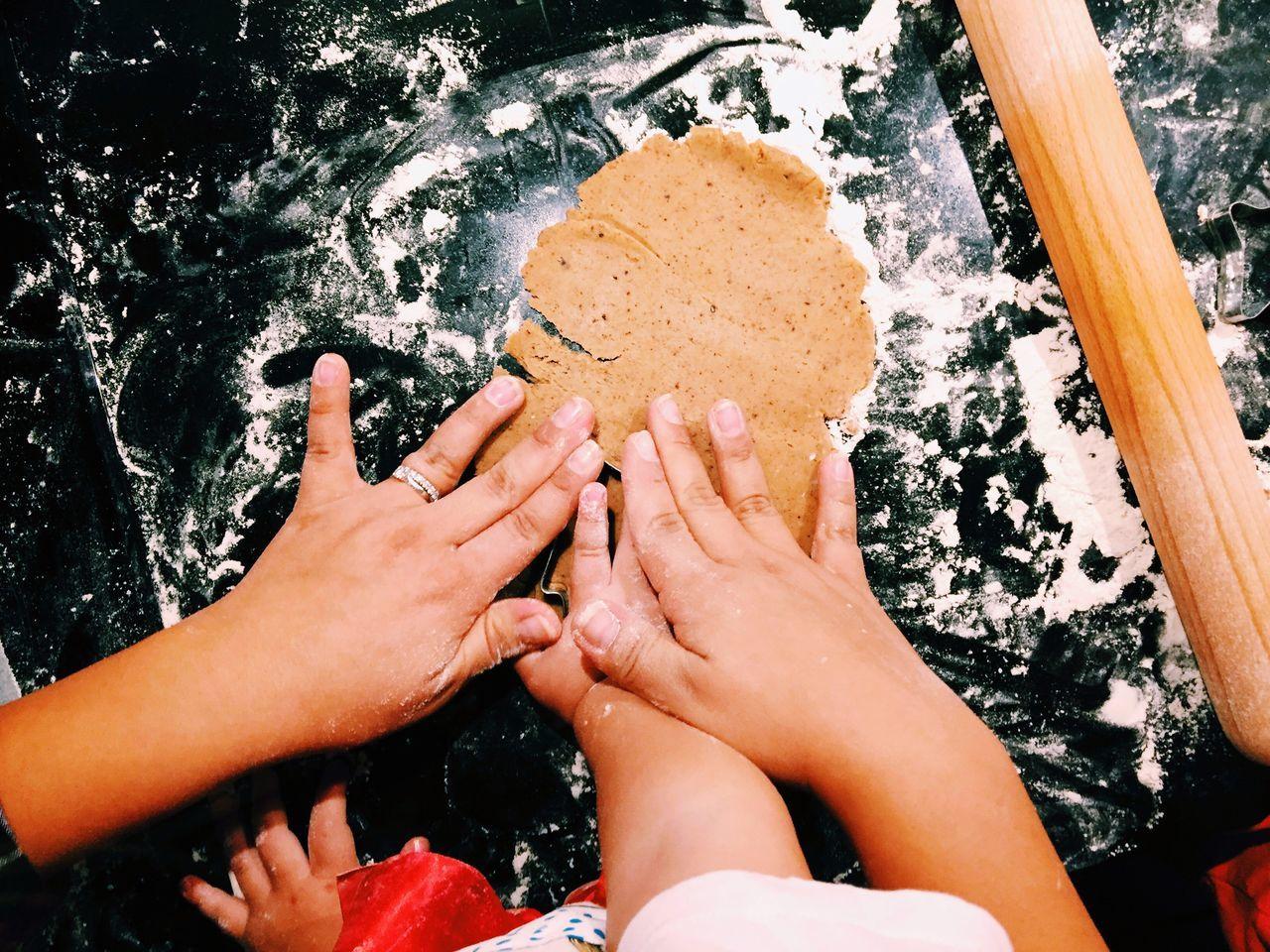 Preparing ginger bread cookies. Baking Christmas Preparations Cookies Jul Family Children Photography Children Hand Handmade Gingerbread