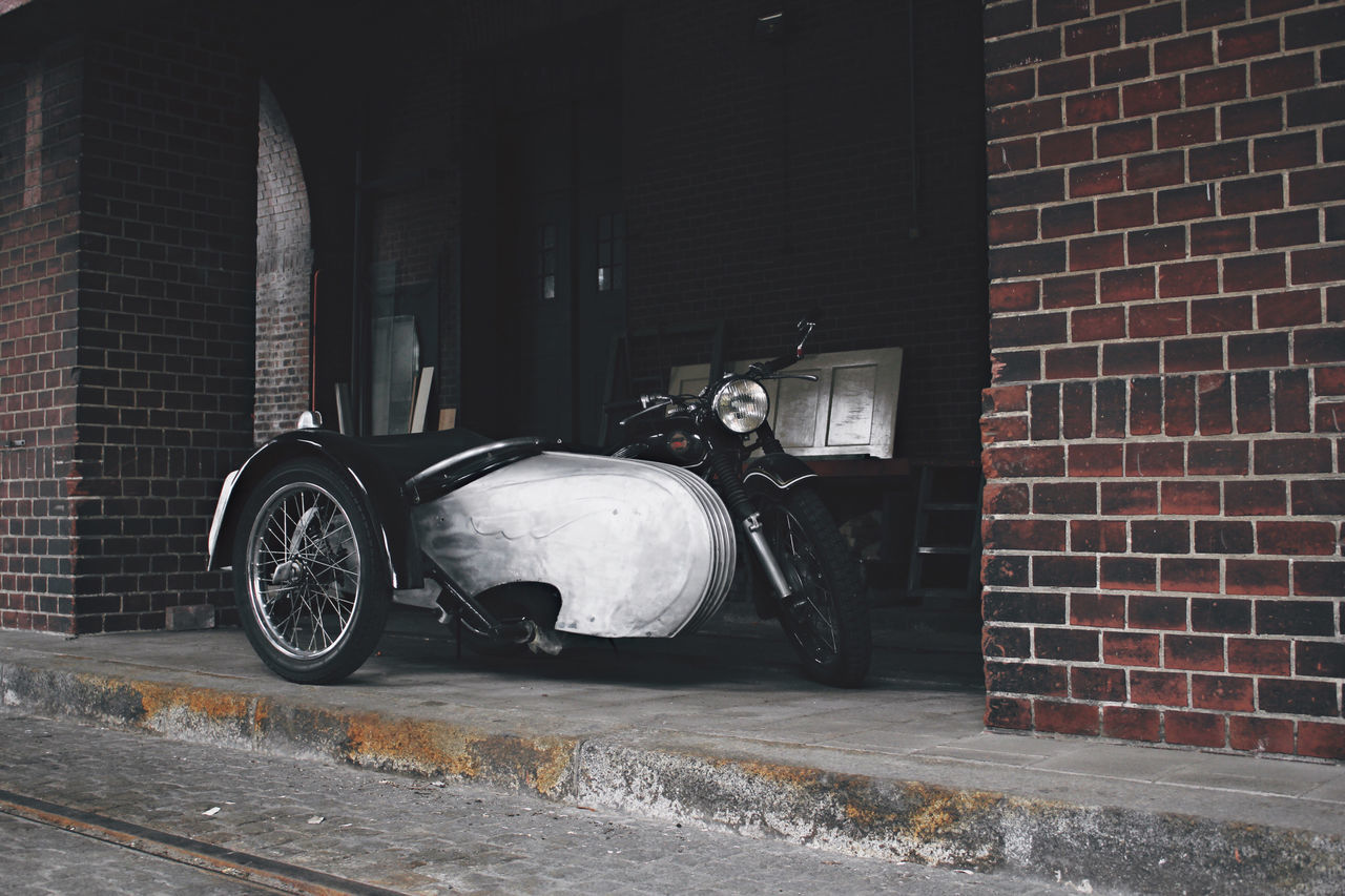 30 Ancient Antique Architecture Bike Brick Wall Building Exterior Built Structure City Industrial Land Vehicle Metal Metallic Motorcycle No People Old Oldtimer Side Car Sidecar Transportation EyeEm Selects EyeEm LOST IN London