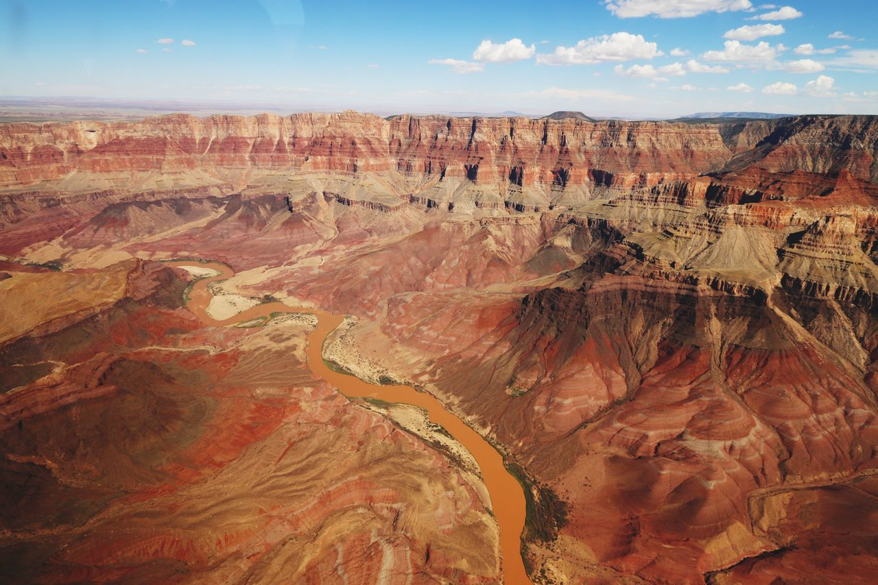 Helicopter view Helicopter Grand Canyon Red Rocks  Red Rock Sun Colorado WestCoast