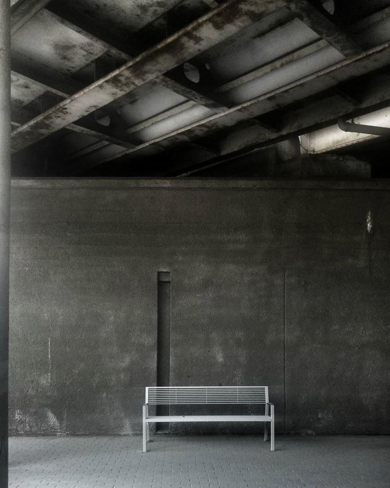 Podróż Pociag Stacja ławka Minimalist Architecture