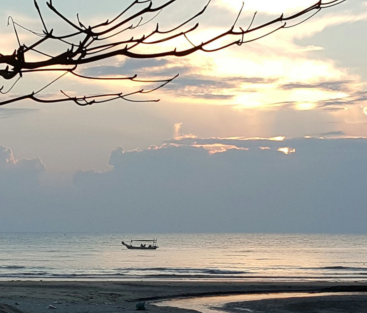Fishing boat Sea Beach Tranquility Nature Water Beach Photography