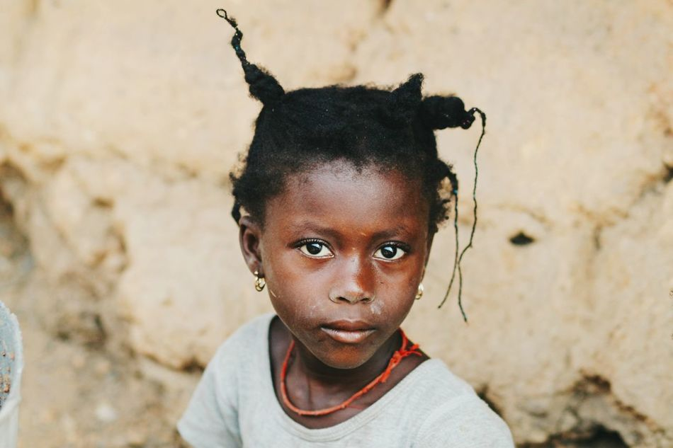 Beautiful stock photos of afrika, looking at camera, portrait, childhood, one person