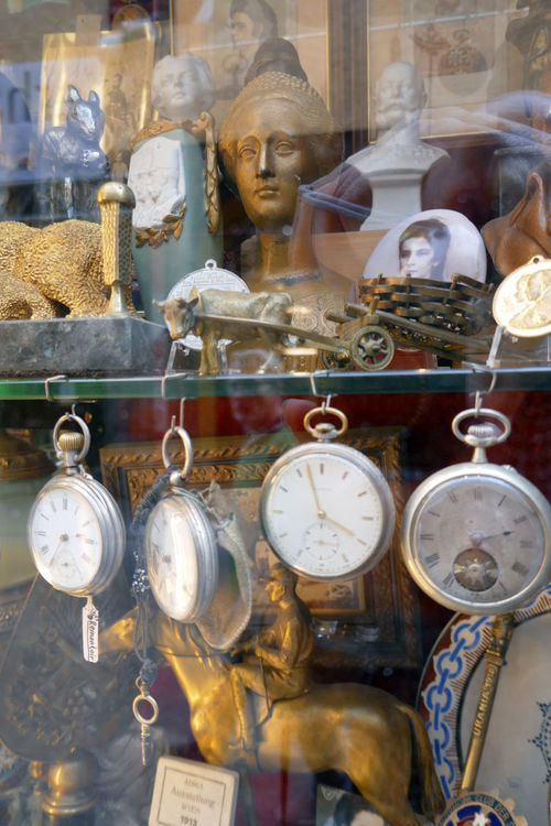 Abundance Antique Arrangement Choice Close-up Day Focus On Foreground No People Retail  Still Life Store Variation Shop Window Shop Window Pocket Watch Antiquities Large Group Of Objects Vienna Austria