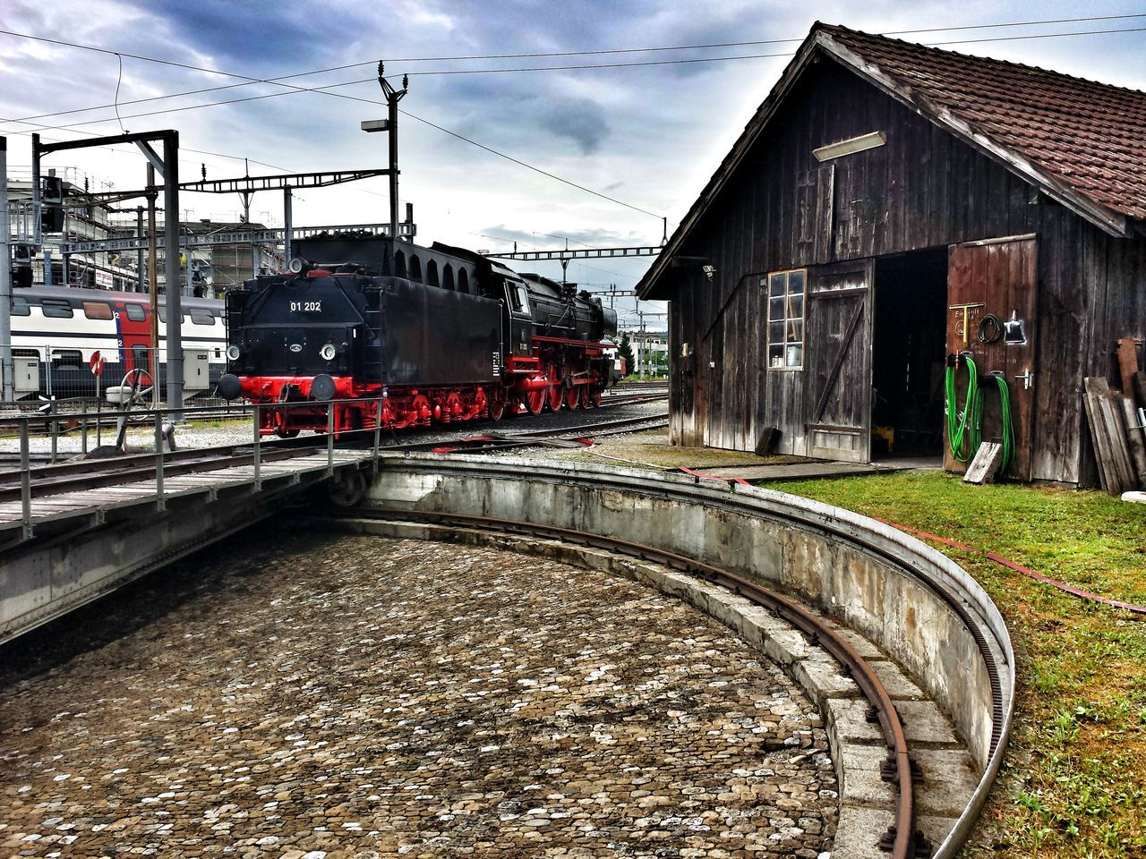 Steam Locomotive Steam Locomotive Railway Turn Table Technology History Dampftag 2016
