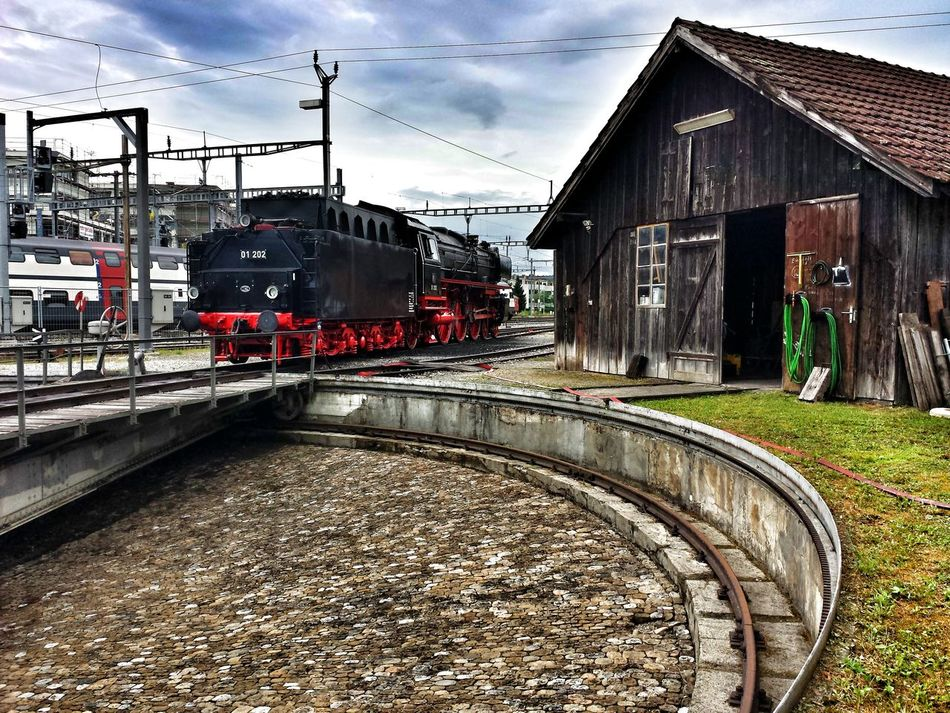 Steam Locomotive Steam Locomotive Railway Turn Table Technology History Dampftag 2016