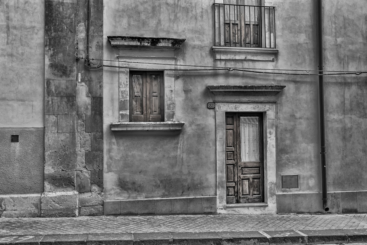 Frontage Architecture Black & White Black And White Blackandwhite Blackandwhite Photography Building Exterior Built Structure Bw BW Collection Bw_collection Day Door Facade Building Facade Detail Façade House Houses And Windows Monochrome Monochrome _ Collection No People Outdoors Retro Sepia Urban Vintage