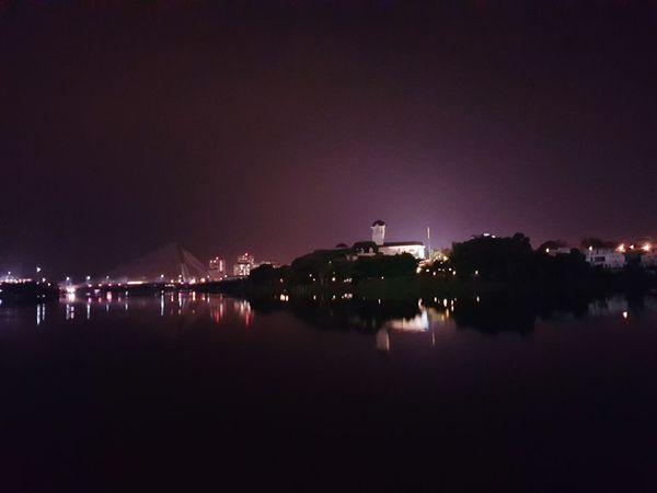 serene Night Reflection Illuminated Outdoors Water Celebration Sky No People City