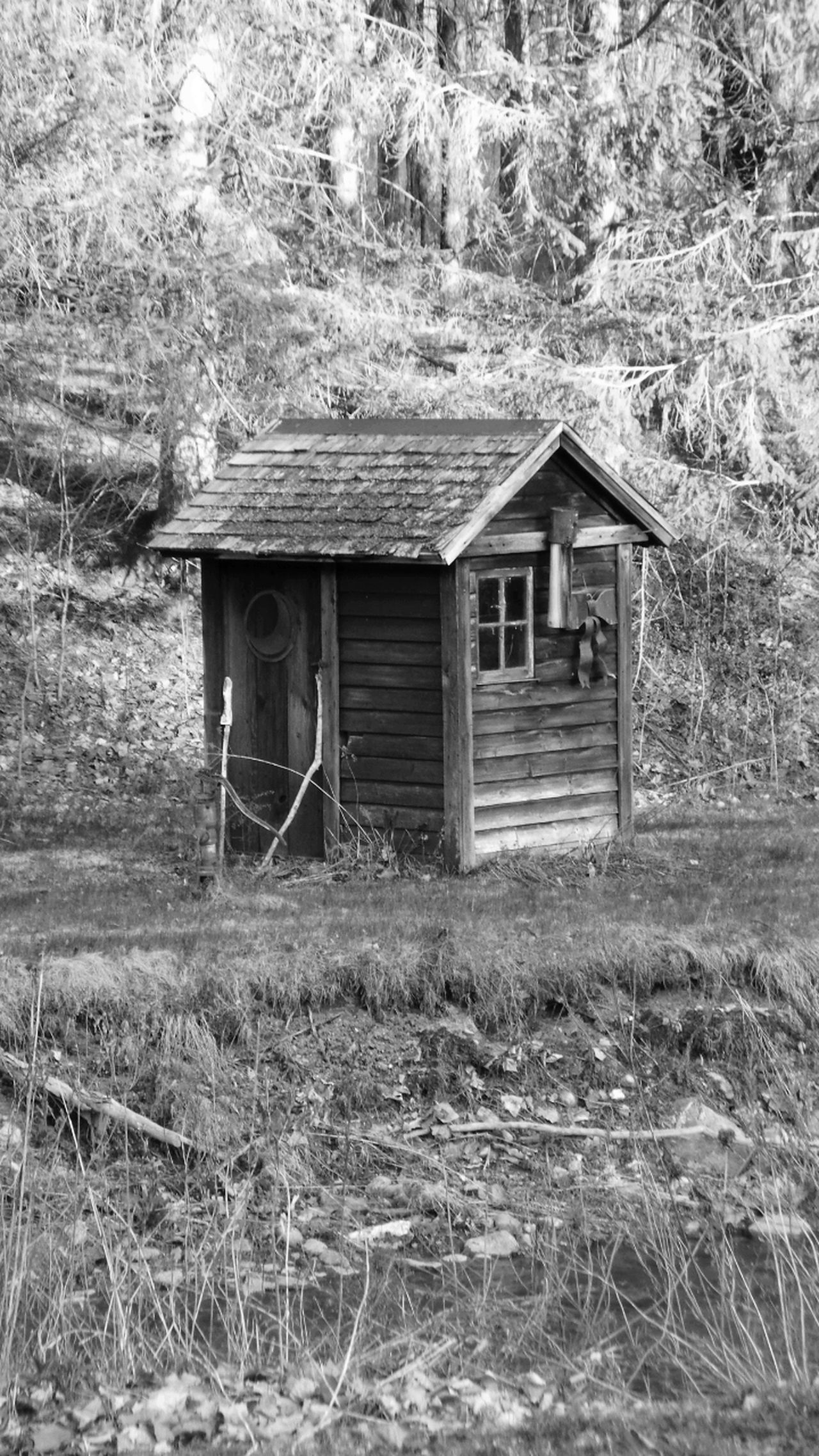 Little House On The Prairie Little House In The Woods Worn Out & Wonderful  Black And White Shot Black And White Collection  Blackandwhite Whiteandblack Blackandwhite Photography Black And White Photography Tell A Story Monochrome By The River Black And White Nature Black And White Collection! Black And White Architecture