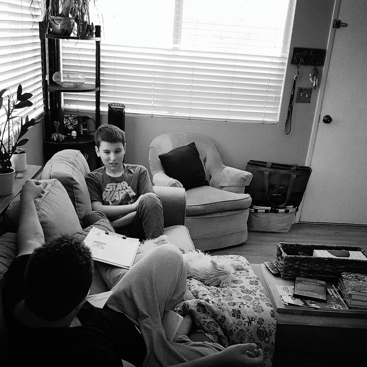 Homeschool life... Young Adult Indoors  Homeschoollife Homeschool :) Father And Son FatherSonMoments Myfavoriteplace Thecolorofschool