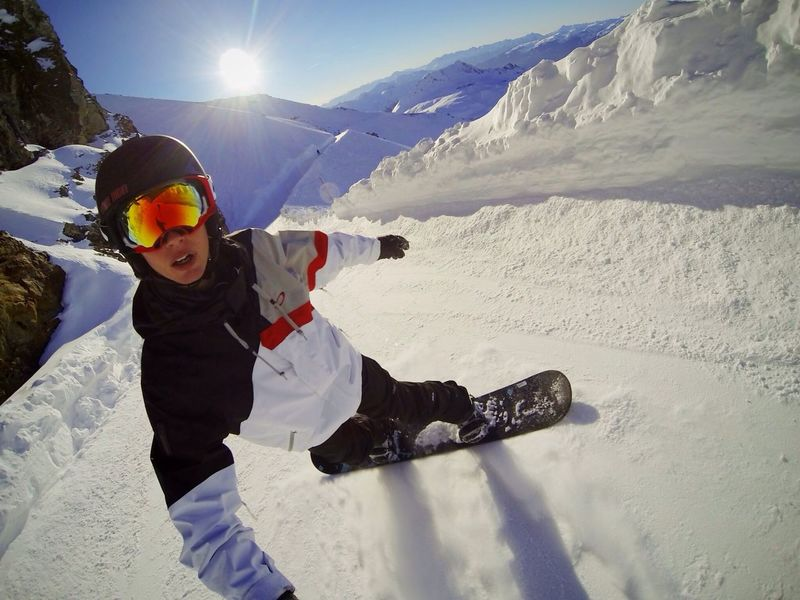 Hello World Gopro Snow Selfportrait