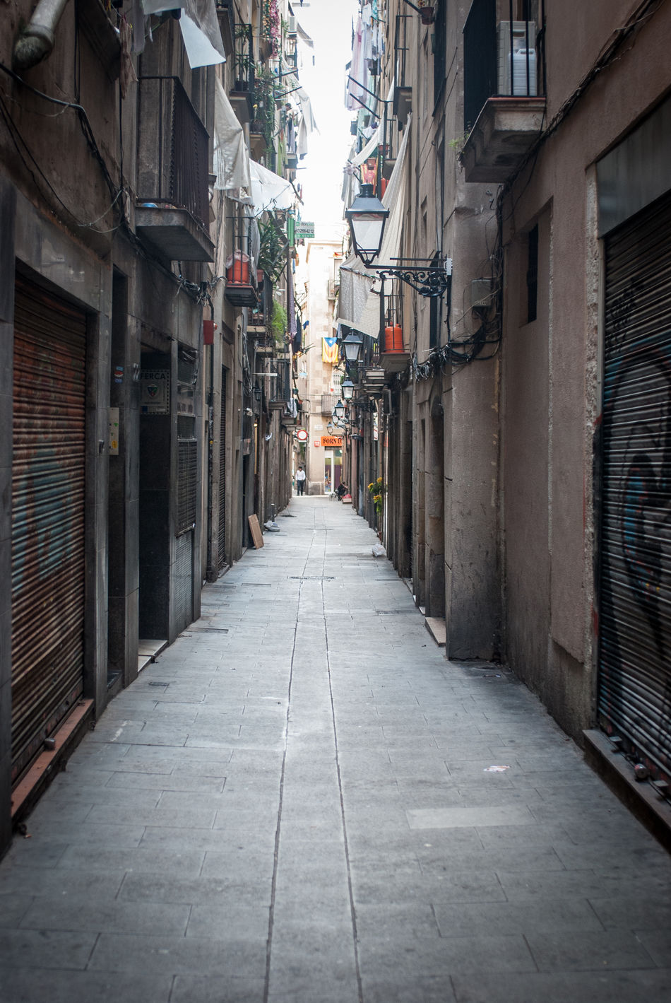 Alley Architecture Barcelona Building Exterior Built Structure City Day House Narrow No People Old Town Outdoors Residential Building Street The Way Forward Tiny Street Travel Destinations