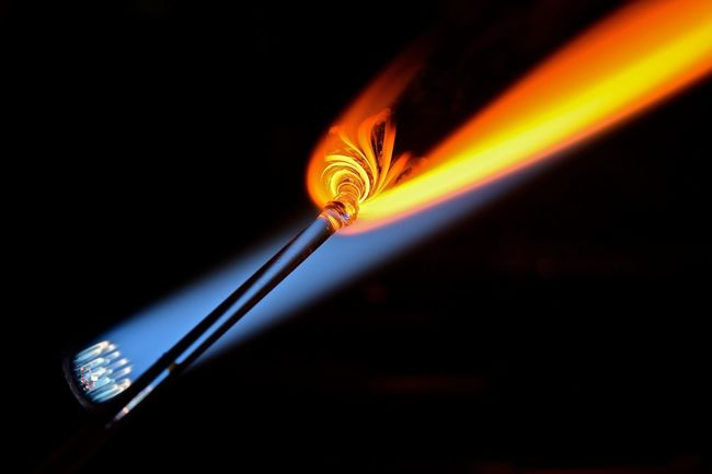 Glass Blowing #glassart #glassblowing Art Concentration Creativity Creativity Has No Limits Flames Girl Power Glass Artist Glass Artistry Glass Artwork Glass Blowing Hand Made Handmade Heat Skill  The Innovator Showcase June TakeoverContrast Maximum Closeness