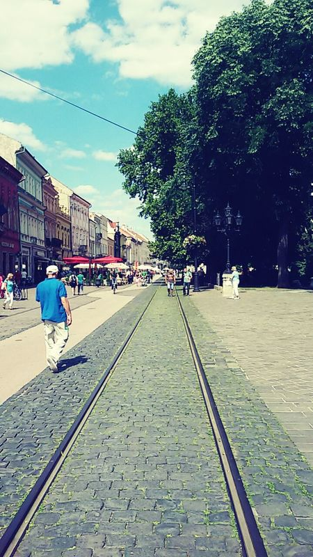 Taking Photos With Friends Blue Sky Trees Old Town Rails City Life City View  CityWalk City Center EyeEmKošice Košice Center