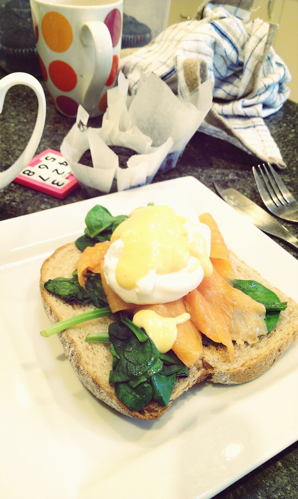 smoked salmon and eggs with hollandaise sauce Breakfast Eggs