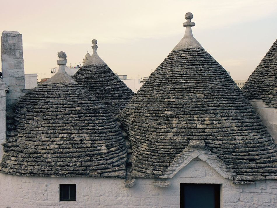 Alberobello Alberobello - Puglia Alberobello City Alberobellocity Alberobelloexperience Alberobellophotocontest Architecture Building Exterior Built Structure Close-up Day Low Angle View No People Outdoors Sky