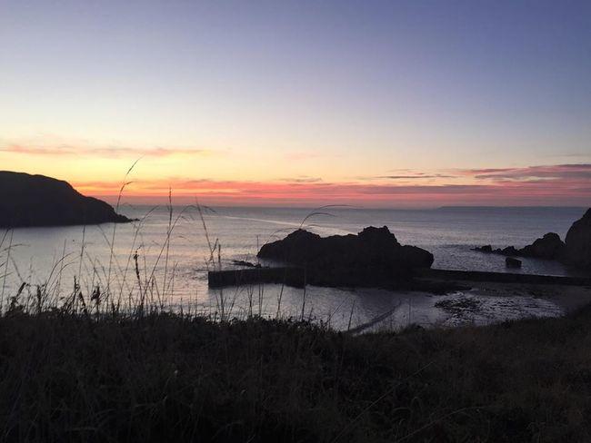 Beautiful Church Hope Cove Pink Sea Sea And Sky Sky Sunset