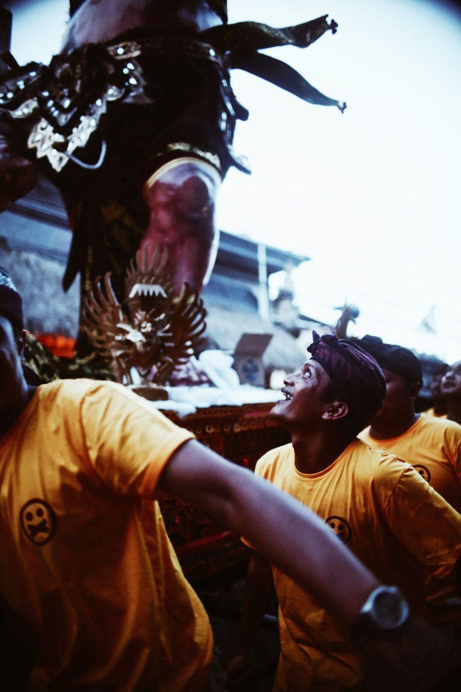 Smile Togetherness Men Outdoors Real People Ubud Bali, Indonesia Ogoh-ogoh