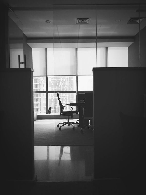 Silent Architecture Black & White Office View