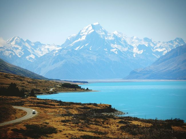 Mount Cook New Zealand Landscape New Zealand Beauty New Zealand Mount Cook Mount Cook NZ Lake Pukaki Landscapes With WhiteWall