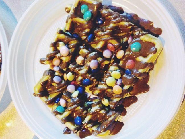 Food Nutella Waffles