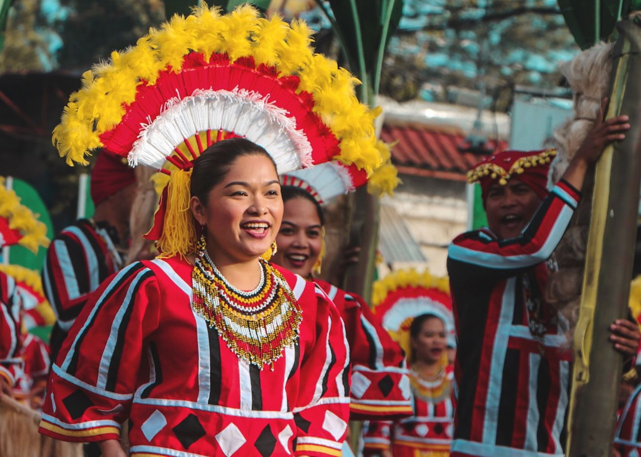 Kaamulan Festival 2017 Traditional Dancing Eyeem Philippines Cultures Costume Performance Smiling Young Adult Dancing Arts Culture And Entertainment Celebration Fun Dancer Focus On Foreground Tradition Headshot Happiness Headdress Traditional Festival Day Enjoyment The Portraitist - 2017 EyeEm Awards The Journalist - 2017 EyeEm Awards