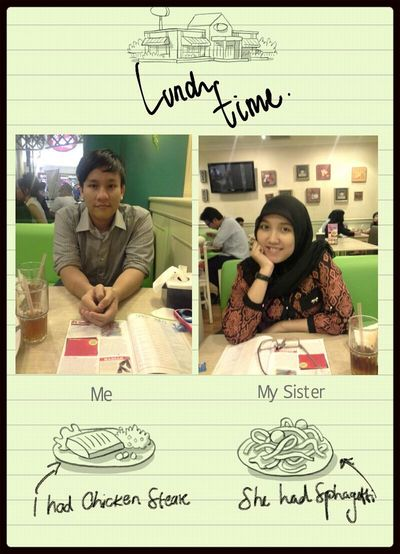EatingLunch with sister