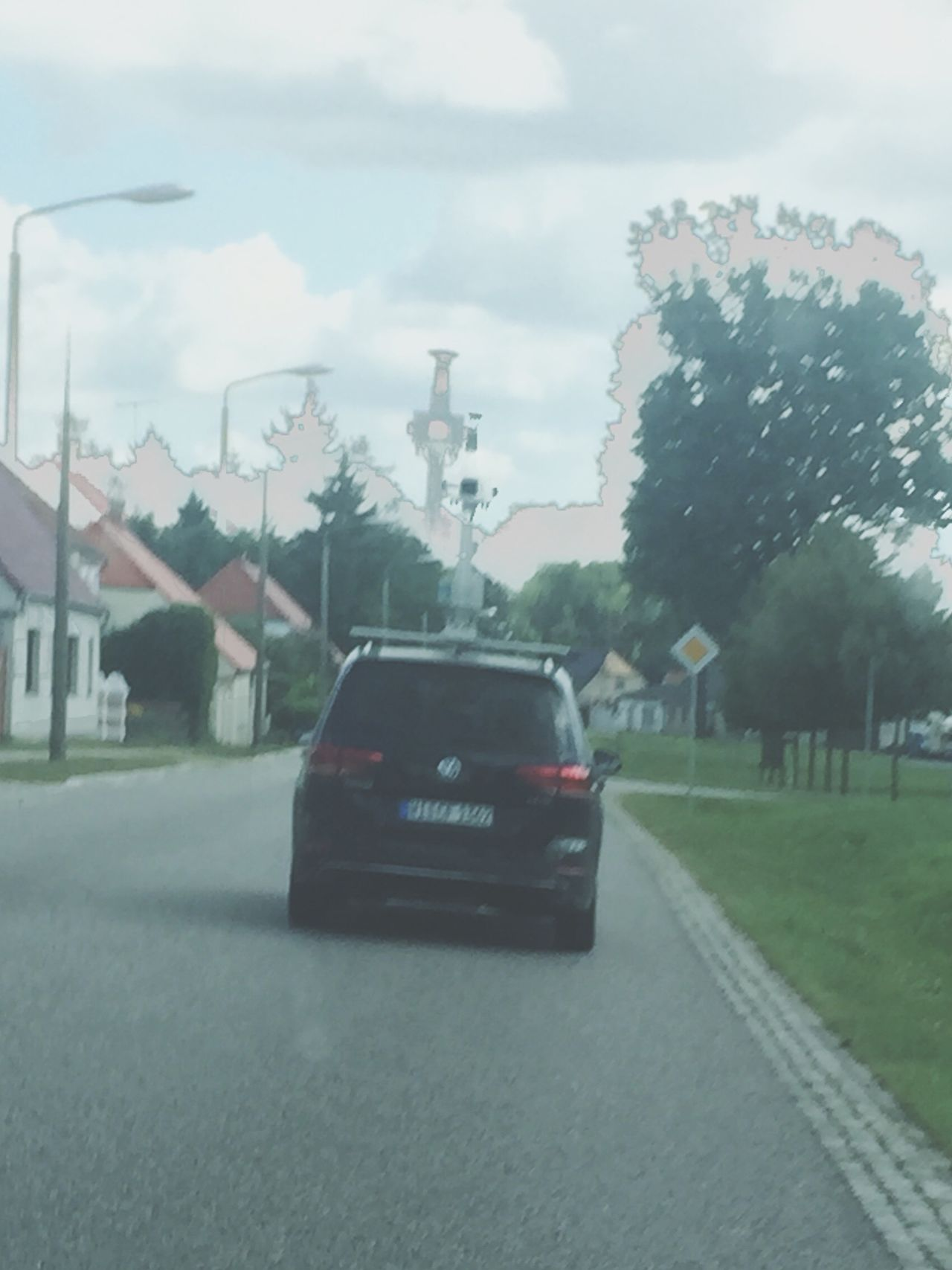 Googlemaps Streetview GoogleCar Countryside Eastgermany Negative Street Car Village