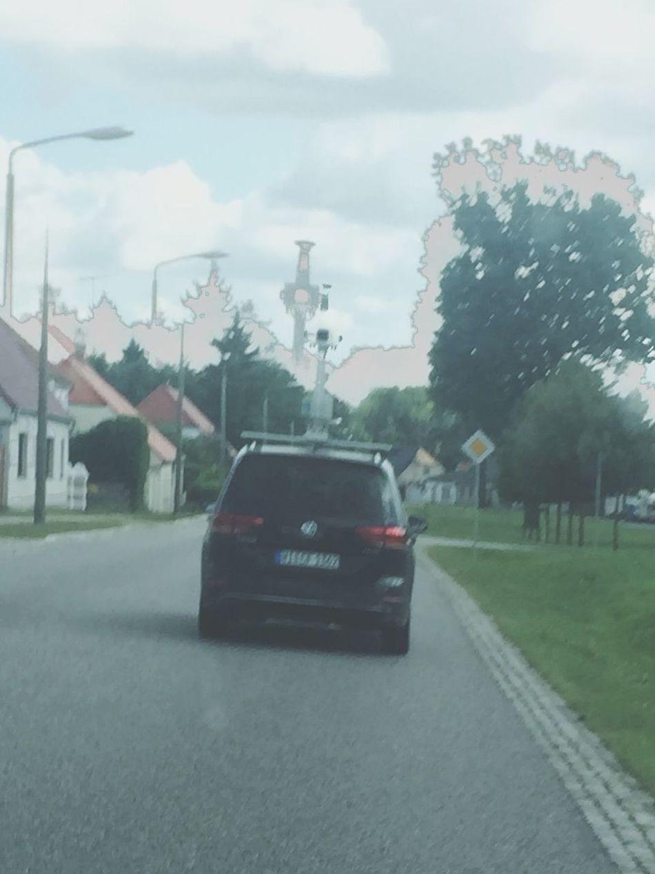 Googlemaps Streetview GoogleCar Countryside Eastgermany Negative Street Car Village