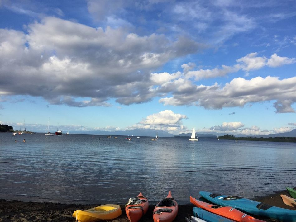 Kayak Kayaking In Nature Puerto Varas Puerto Varas, Chile Lago Llanquihue Water Sky Cloud - Sky Sea Lake Lake View Tourism Tranquility Blue Outdoors Nature Chilepaisajes Chilefotos Non-urban Scene Beauty In Nature Day Travel Destinations Chile