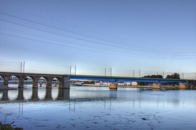 Architectural Column Architecture Blue Bretagne Bridge Bridge - Man Made Structure Cable Calm Lorient Outdoors Sky Tranquil Scene Tranquility Transportation Water Waterfront