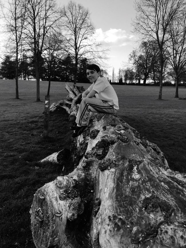 The Love Of My Life Enjoying Life Relaxing Beautiful Peace And Quiet Blue Sky Beautiful Nature Nature Trees Trunk Sitting Sat On A Tree Trunk Beauty In Nature