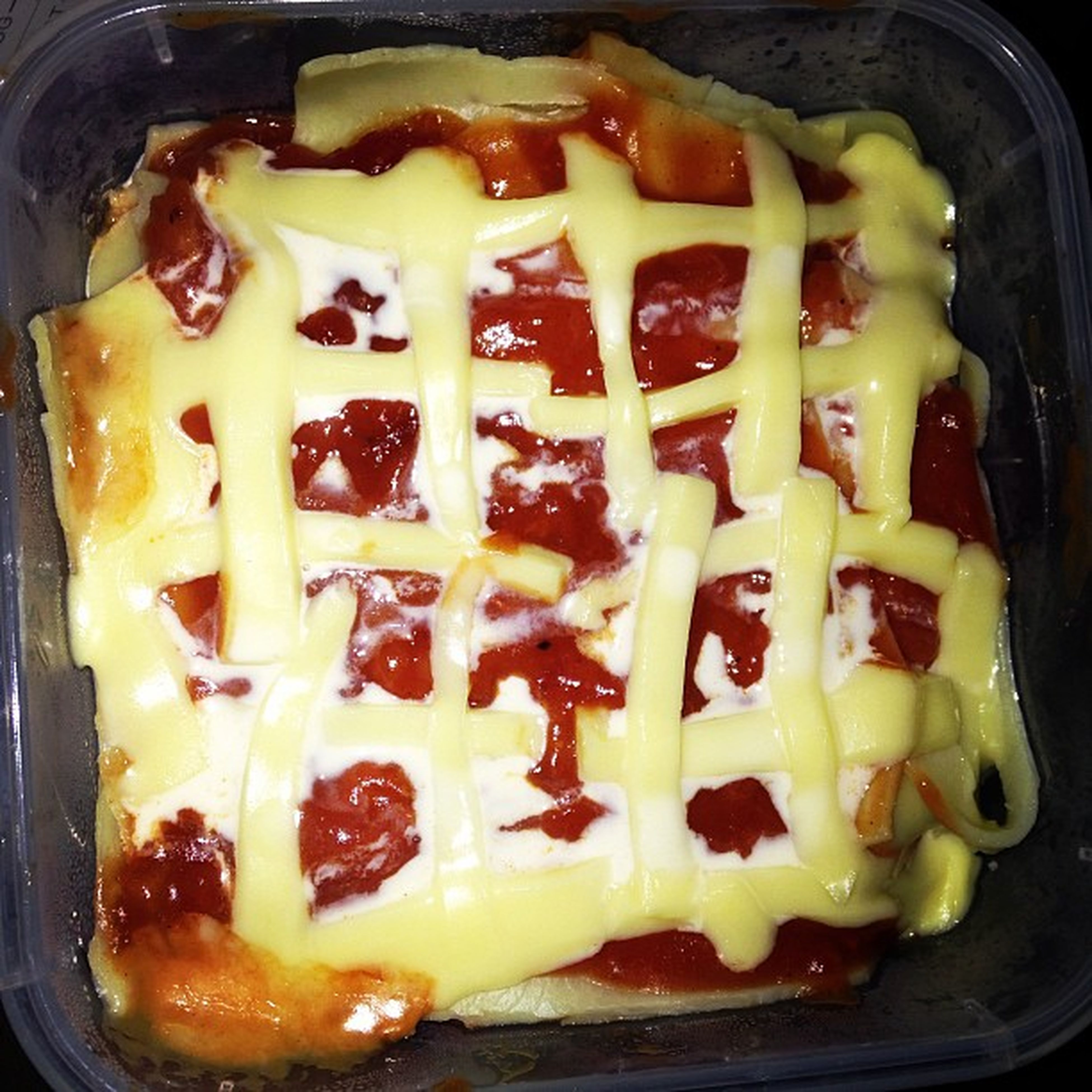 I'm sad so I made a beautiful Lasagna omg so freakin Proud of myself Successstory Yum