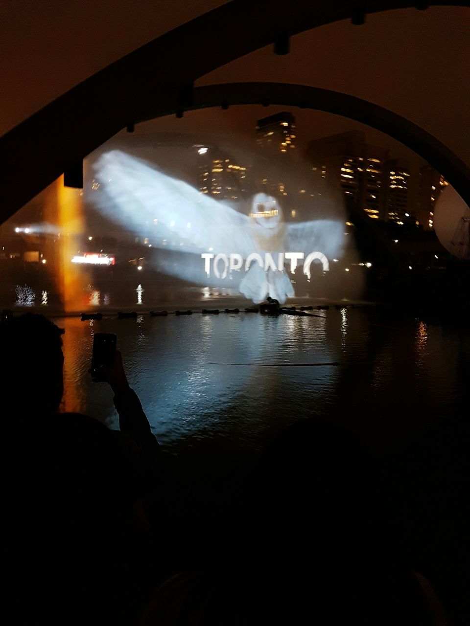 illuminated, night, real people, arts culture and entertainment, silhouette, large group of people, indoors, men, water, nightlife, architecture, nature