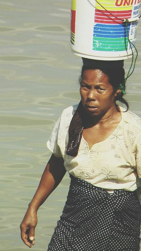 The Photojournalist - 2015 EyeEm Awards Myanmar Asian Women Asian World Working Hard Irrawaddi Irrawaddy River