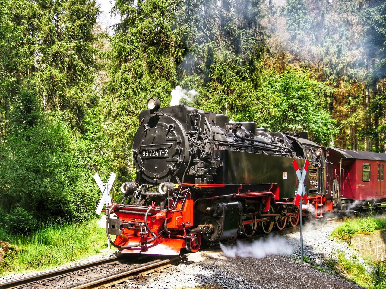 Steam Train Harz Brockenbahn Brocken Railway Railway Track Railroad Track Narrow Gauge Railroad Railway Crossing Steam Locomotive Global Photographer Works Exhibition Global Photographers Alliance Showcase July