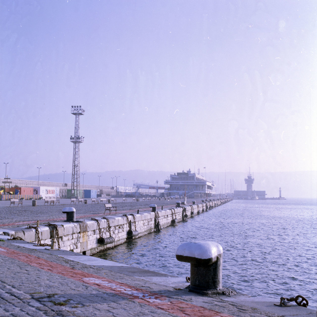 Foggy morning in Varna Bay Ana Backgrounds Blue Blue Sky Film Focus On Foreground Foggy Harbor Monochrome Morning Portrait Sea Seaside Ship Vintage Water