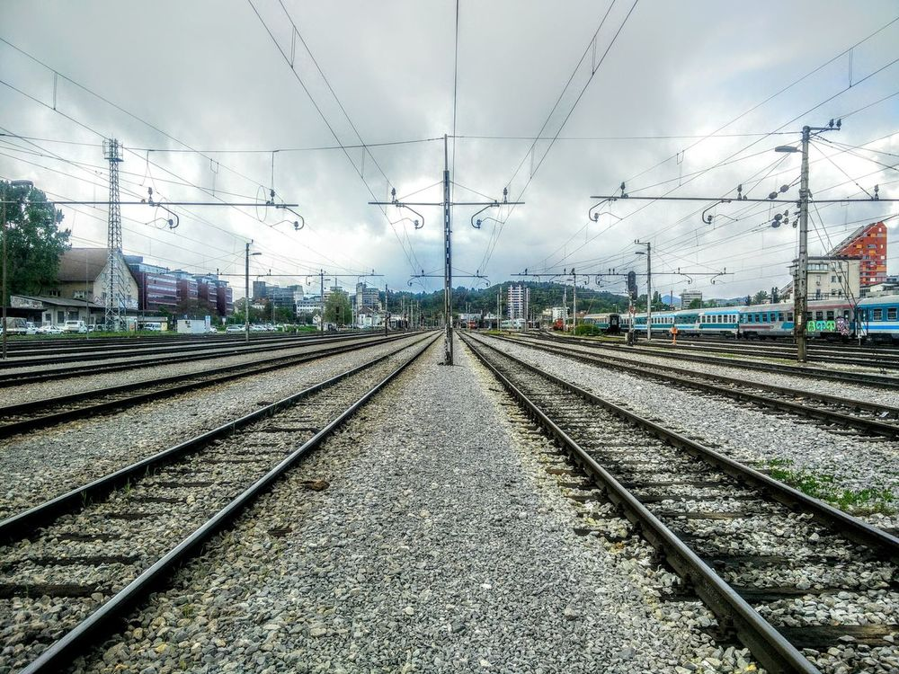 Life is lika a railroad. Endless and strong. Railroad Track Cloudy Chilly Day Chillyweather  Horizontal Symmetry