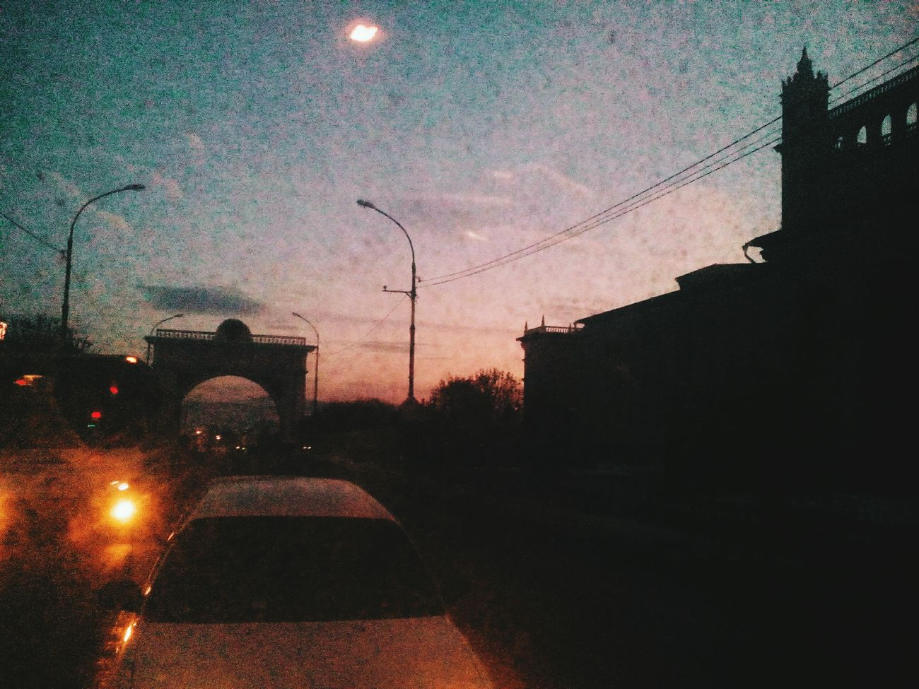 Car Street Sky Sunset Road Day