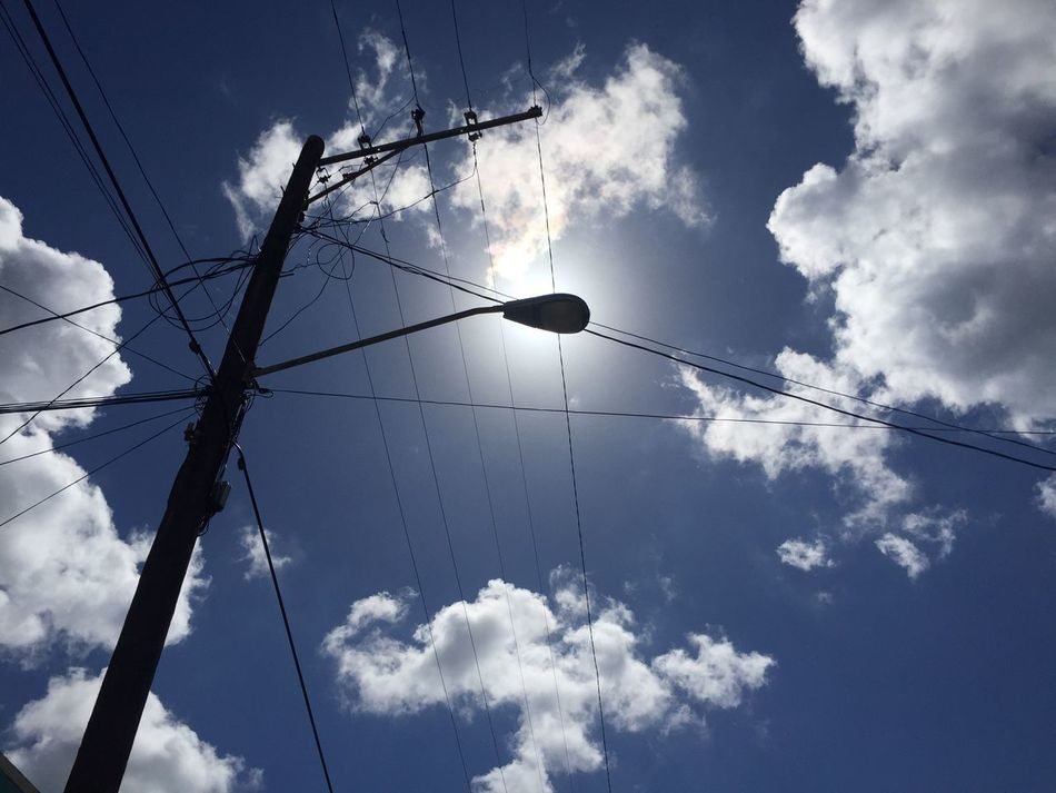 Blue Blue Sky Cable Cables Close-up Cloud - Sky Connection Contraluz Counterlight Darkness And Light Day Electricity  Electricity Pylon Power Line  Power Supply Sky Sol Sun Suneffects Sunlight Telephone Line Tree Wire The City Light