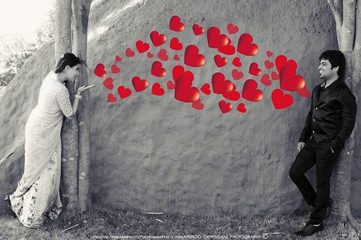    Pre Wedding Couple      Nirmal - Divya   Love Couple Prewedding Photoshoot Raipur Nagpur Savethedate Blacknwhite Bw Mono_Crome Heart Flying_kiss Himanshoo_Govindani_Photography