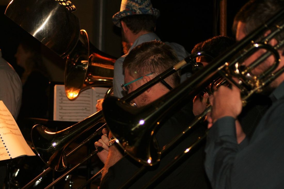 Arts Culture And Entertainment Jazz Band Lifestyles Music Is My Life Musical Instruments Musicians Night Nightlife Trombone Trombonist