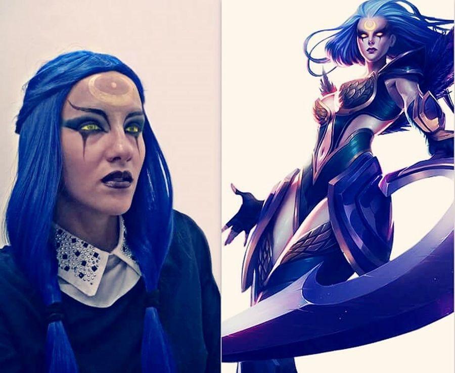 Stage Makeup Makeup Blue League Of Legends LeagueofLegends Diana <3 Diana Wig Makeup ♥ Leagueoflagends