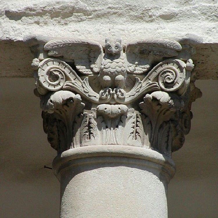 Kapitell Capitel Camposanto Madrid Eule Lechuza Owl