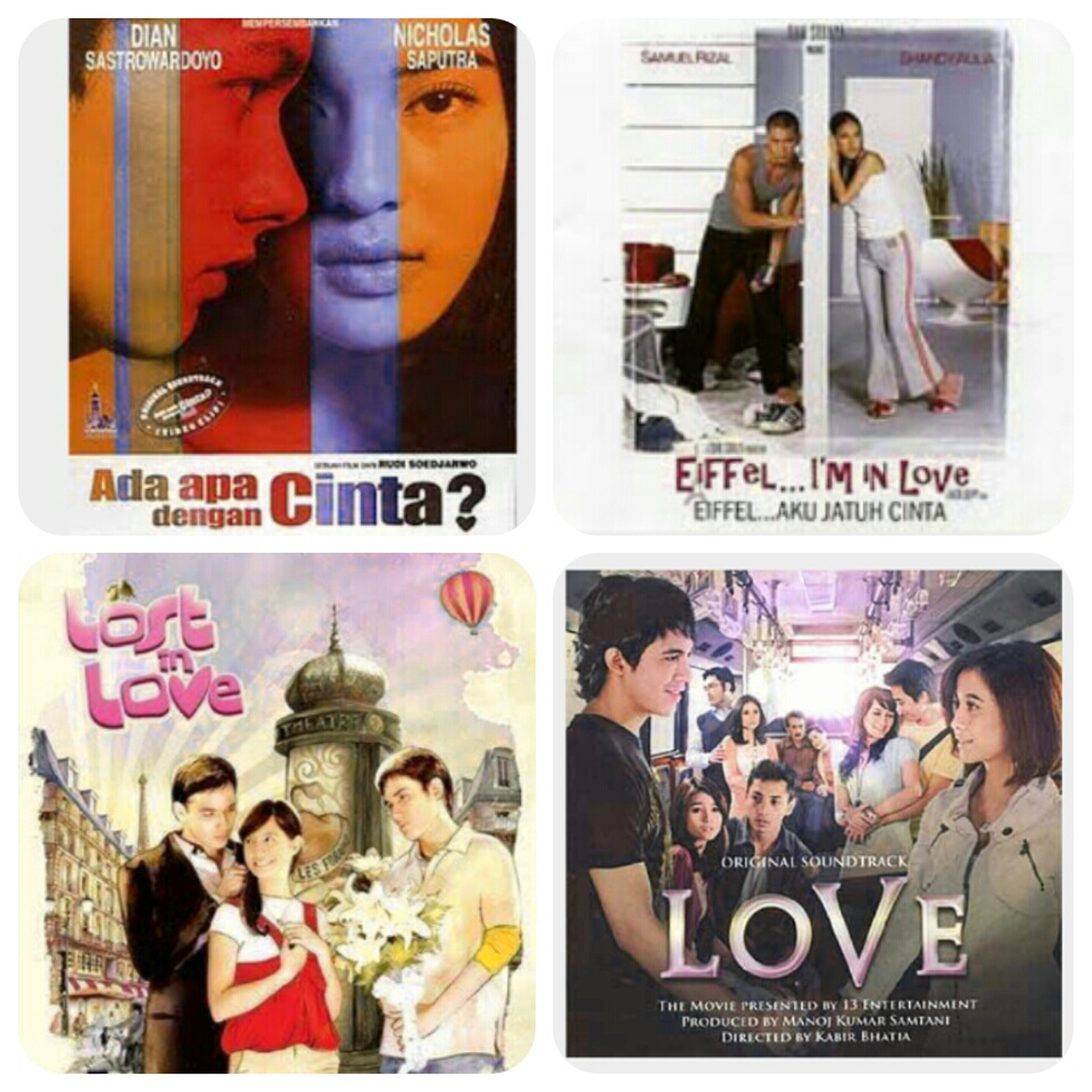 All about LOVE... my favorite movie!! That makes me feel like a high school girl! Hahaha I really miss that moments.. Ada Apa Dengan Cinta Eiffel I'm In ❤ Lost In Love Love Tbt : )