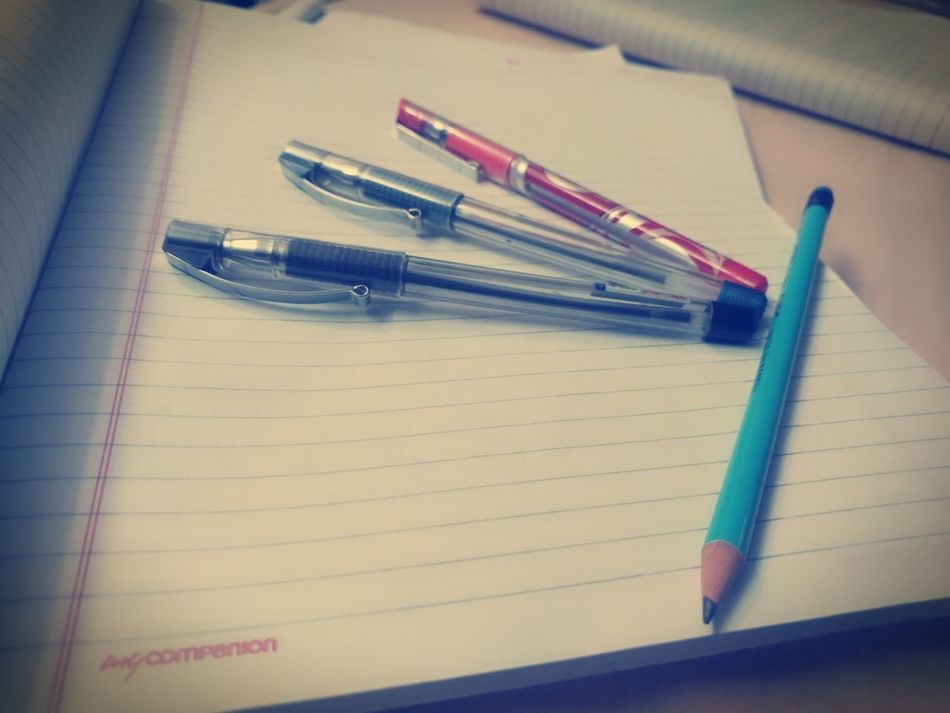 Study Time Indoors  No People Close-up Notebook Pen Education