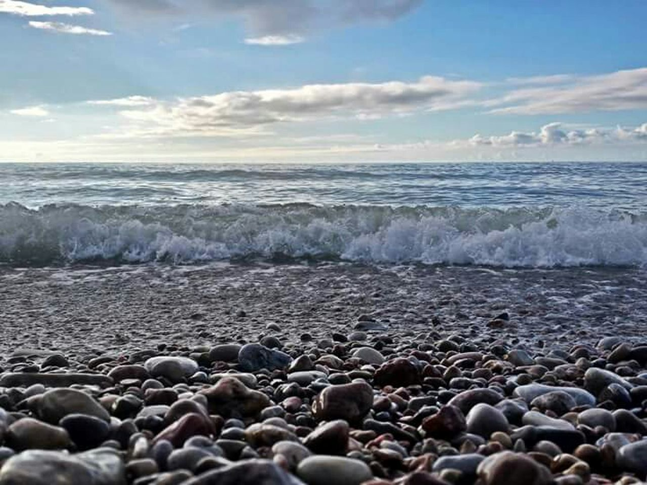 Waves. Baltic Sea Liepaja Karosta