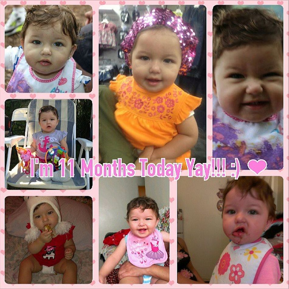 HAPPY 11 MONTHS MI BLANKITA HERMOSA I LOVE YOU SO SOOOO MUCH MAMA WOW YOUR ALREADY 11 MONTHS ITS BEEN SUCH JOY HAVING YOU AROUND FOR THOSE 11 MONTHS YOUR THE CUTEST THING EVER I LOVE YOU SO MUCH MY LITTLE TROUBLE MAKER HEHE GOD BLESS YOU PRINCESA !!! ❤ ❤ ❤ ❤ :) :) :) :) BabyB11Months