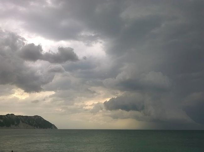 Portonovo Conero Temporale Sea And Sky Water Reflection Sea Italy Sky Clouds And Sky Sky And Clouds Light And Shadow Sea_collection Beach Life Is A Beach